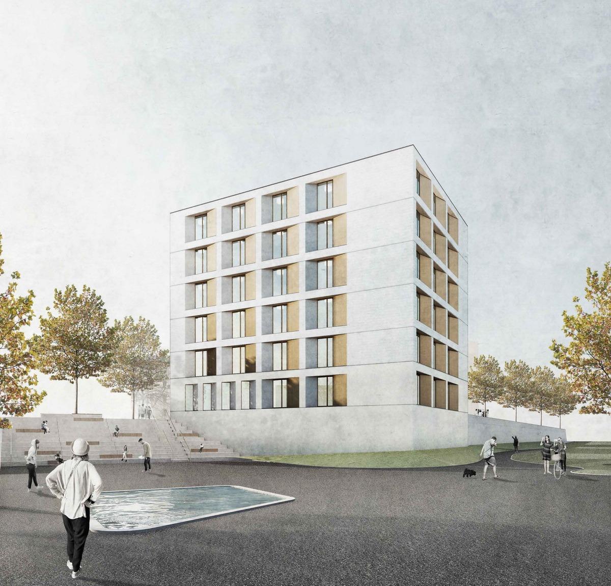 Wettbewerb wohnheim weimar amonat architektur for Architektur 2017